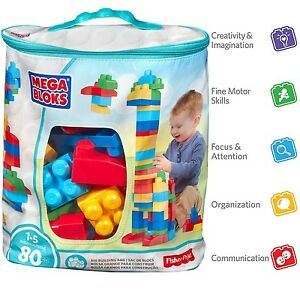 Image Is Loading Building Blocks Educational Toys 80 Mega Block Fisher
