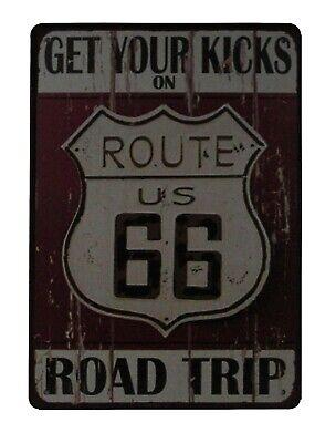 US Route 66 Signe De Publicité Rétro Vintage Signe Repro Wallart