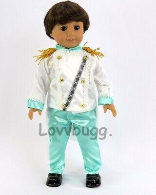 Doll Clothes fits American Girl Black Combat Boots Shoes Logan Boy