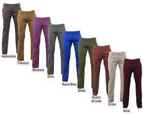 Mens-Kushiro-Chino-Trousers-Cotton-Pants