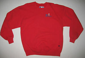 new concept d8e0e 8c3fd Details about Vintage New England Patriots Russell Mens Crewneck Red  Sweatshirt XL Made in USA