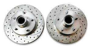 79-81-Camaro-Firebird-11-034-Rotor-Set-5-on-4-75-034-Slotted-and-Drilled