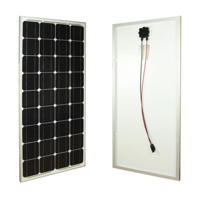 Solarmodul Monokristallin 100W-12V Solarpanel verbaut mit ganzen Zellen NEU