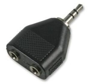 3-5mm-Jack-Splitter-2-x-MONO-Socket-To-1-x-STEREO-Plug-Y-Adaptor-Connector