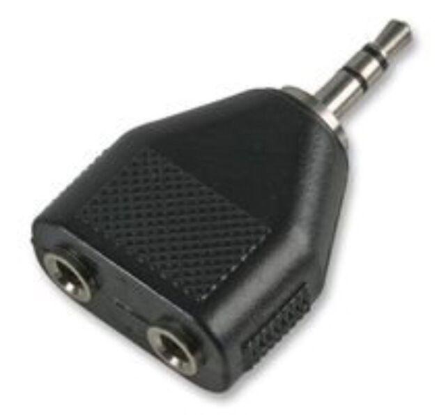 3.5mm Jack Splitter 2 x MONO Socket To 1 x STEREO Plug Y Adaptor Connector