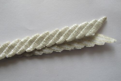 """2245 17-3//8/"""" Gold,Silver Trim Fringe Deco Rope Embroidery Iron On Applique Patch"""