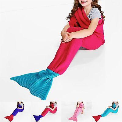 Efficiente Regno Unito Bambine Contrasto Cocoon Fatto A Mano Sirena Crochet Coperta Morbida Coda Di Pesce-mostra Il Titolo Originale