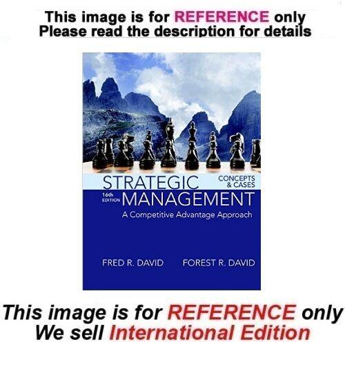 Strategic Management A Competitive Advantage Approach Concepts