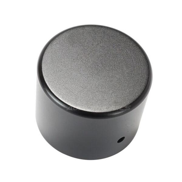 Onbaatzuchtig Bouton Aluminium Axe Méplat 40x30mm Ø6mm Noir