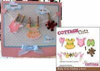 Baby Girl Clothes Die Set Cottage Cutz Metal Cutting Dies Cc4x4-496 Teddy,dress