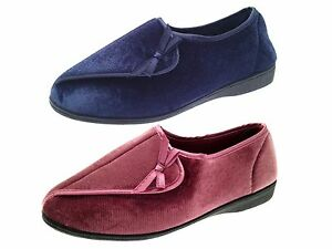 2ddc995109a Details about Womens Orthopaedic Diabetic Comfort Slippers Wider Fit  Adjustable Shoes Size