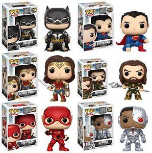 Funko-POP-Justice-League-Batman-Superman-Aquaman-Flash-Vinyl-Figures-NEW