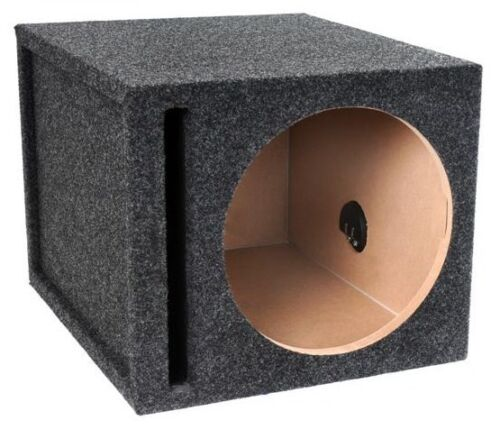 "12/"" Single Subwoofer Box Enclosure Ported Vented 1/"" Thick Face High Quality Wood"