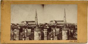 Ville A Identificare Felix Piot Foto Stereo Vintage Albumina Ca 1870