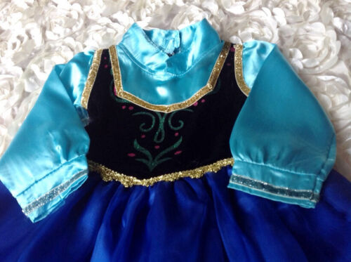 Girls Disney Frozen Princess Anna Costume Birthday Party Dress Size 2.3.4.5.6
