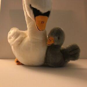 "11"" tall Plush SWAN with Baby Bird Mom  Soft Stuffed Animal Cisco Target"