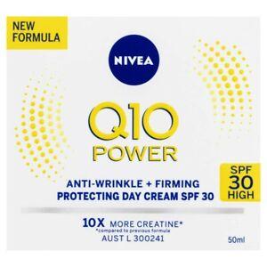 Nivea Q10 Power Anti-Wrinkle Firming Day Cream Face Moisturiser + SPF30 50mL