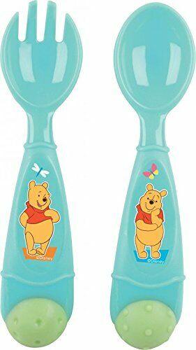 Disney Winnie Pooh 2 un Cubiertos Cuchara Tenedor Comida recién nacido bebé niño
