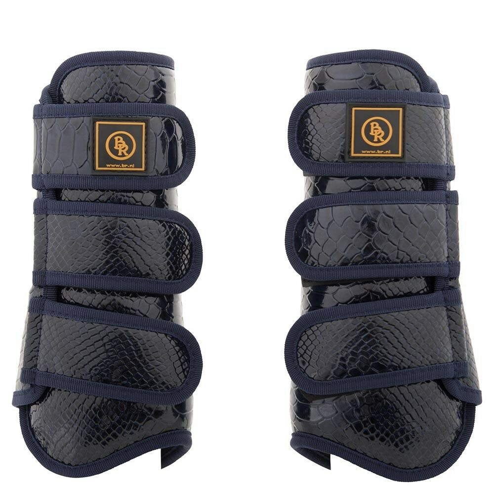 BR PROMAX TENDON BRUSHING BOOTS blueE PATENT CROC CLEARANCE PRICE