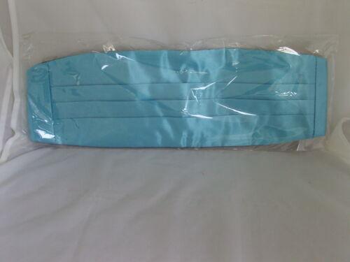 Turquoise BLUE Polyester Cummerbund /& Bow Tie Set/>P/&P 2UK/>1st Class /> 60 Colours