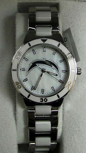 Image is loading NFL-Chargers-Watch-Womens-Game-Time-Pearl-Watch- 2b91e1a45