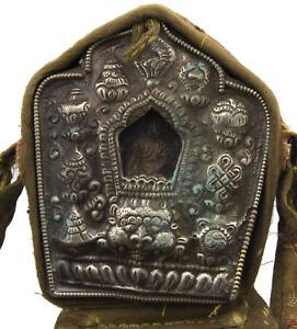 Ghau Gau Tibetain-Autel Tempio Da Viaggio Jan Bodhisattva Budda 6662 Aa