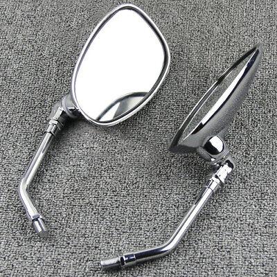 Custom Chrome Spear Rearview Mirrors For Yamaha Cruiser Virago 250 535 750 1100