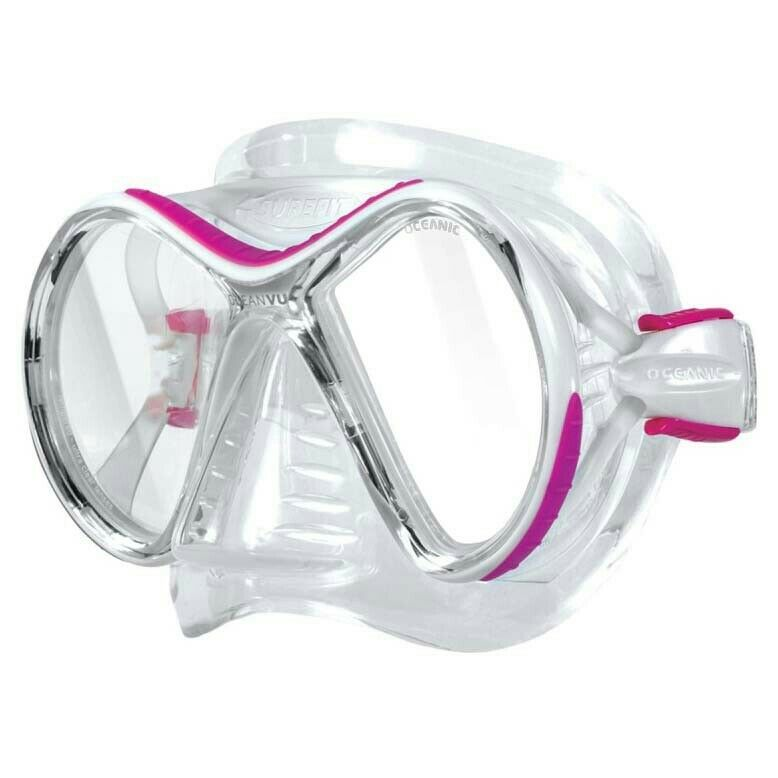 New Oceanic Vu Mask Scuba Diving Pink