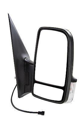 Mercedes Sprinter Van 2006 Electric Short Arm Wing Door Mirror Drivers Side O//S