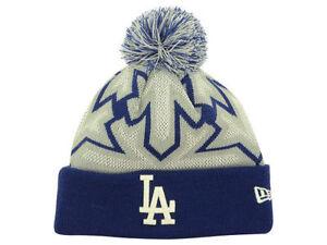 c77aa46e36e92 Official 2014 MLB Los Angeles Dodgers New Era Glowflake Knit Beanie ...