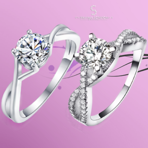 60a117096e51a Details about 925 Sterling Silver Infinity Solitaire Engagement Wedding  Ring with Accent - CZ