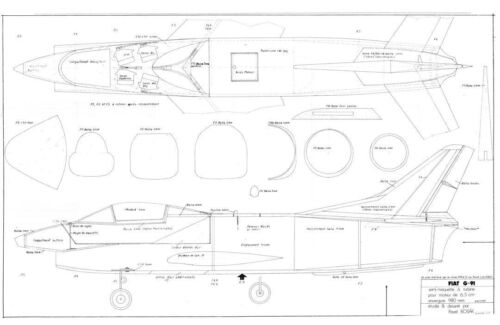 Bauplan. FIAT G 91 GINA