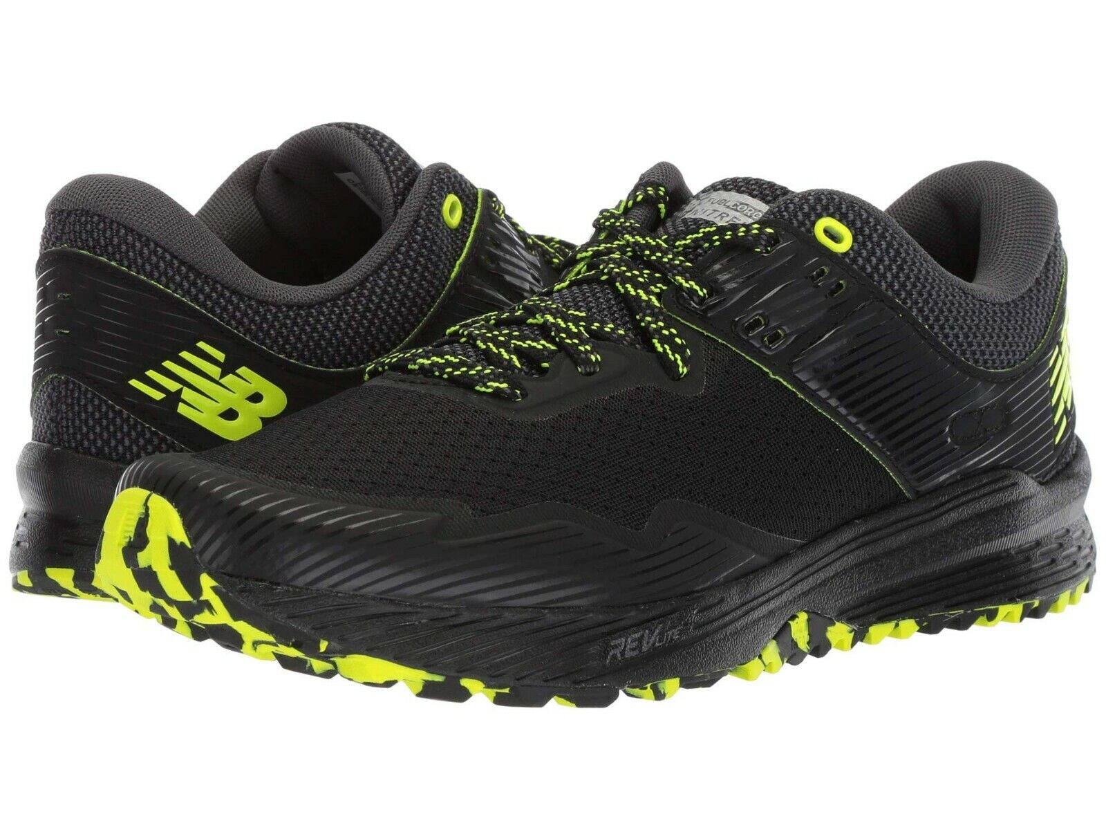 NEW Mens New Balance Fuel Core Nitrel v2 Black Magnet Mesh Trail Running shoes