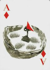 Modern Wide Birds P4 Bird And Yellow Flowers Swap Playing Card