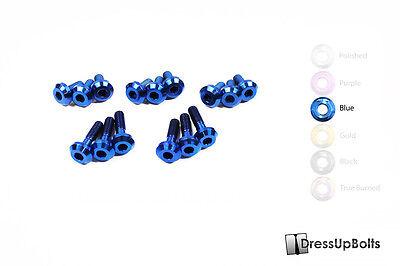 Dress Up Bolts for 06-07 Mitsubishi evo 9 IX  4G63 Blue Ti Titanium Engine Kit