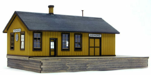 BANTA 2137 HO D&RGW RAILROAD MOblack DEPOT STATION Building Wood Kit FREE SHIP