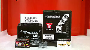 BATTERIA-BUELL-YUASA-YTX14-BS-CARICATA-XB12SCG-Lightning-1200-2008-2009-2010