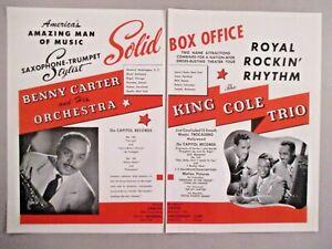 NAT KING COLE TRIO & Benny Carter orchestre double-page print ad - 1944-afficher le titre d`origine a1JVfHFG-09092626-950017529