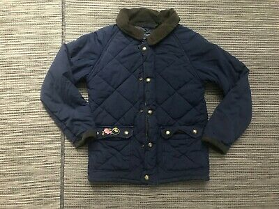 Vineyard Vines Boys Quilted Jacket Size 5 Blue Full Zip