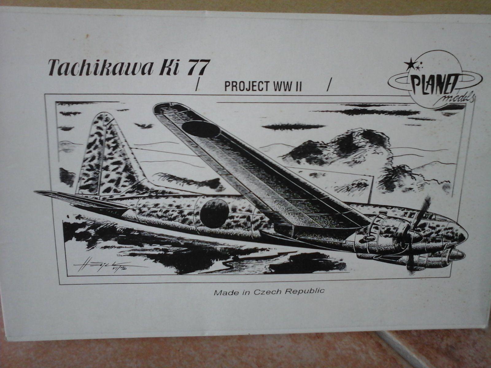 KI77 TACHKAWA 1/72 SCALE PLANET MODEL RESIN PARTS