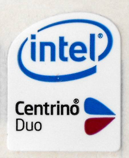 'intel Centrino Duo' Laptop Badge 16 X 20mm (not Domed) Hoge Veerkracht