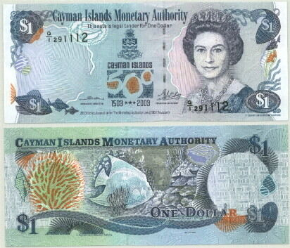 ABOUT UNC! LOVELY QEII CAYMAN ISLANDS $1 NOTE P-30a