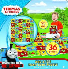 The Canadian Group Thomas & Friends  ABC-123 Foam Cube Puzzle (36 Piece)