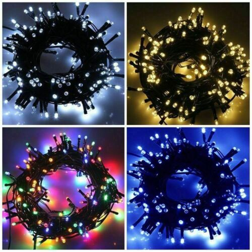 LED Waterproof Mains Plug In//Battery String Lights Outdoor Party Park Fairy Xmas