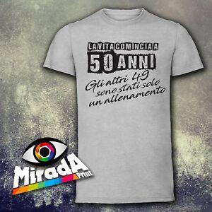 Dettagli Su T Shirt Maglietta Moda Fashion Colore 50 Anni Frase Regalo Compleanno Spiritosa