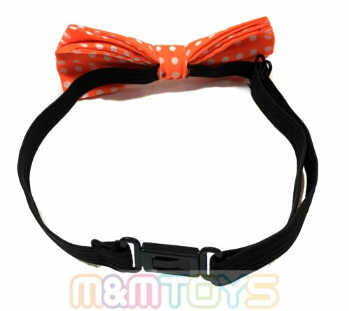 Kids Orange Polka Dot Bow Tie Suspender Matching Set Boys Girls  Child Toddler