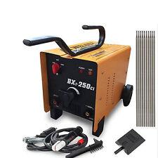 ARC Welder 110/220V AC Welding Machine 250 Amp + Mask Accessories PVC Yellow