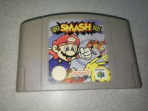Super Smash Bros. para Nintendo 64 N64 PAL * 100% Auténtico * solo carro Aust. vendedor