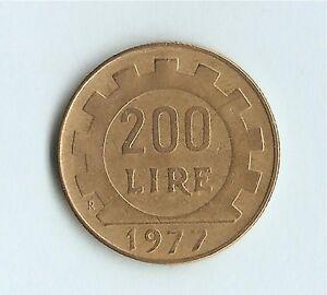 Italy 200 Lire (Lavoro) 1977, Miedź-Aluminium-Nikiel (Cu-Al-Ni) - Wolbrom, Polska - Italy 200 Lire (Lavoro) 1977, Miedź-Aluminium-Nikiel (Cu-Al-Ni) - Wolbrom, Polska