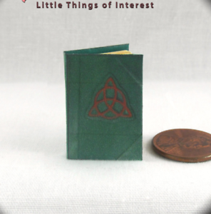BOOK OF SHADOWS MAGIC SPELL BOOK Miniature Book Dollhouse 1:12 Scale Illustrated